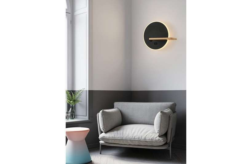 Sconce Wall Lamp With USB HARPER MODEL A