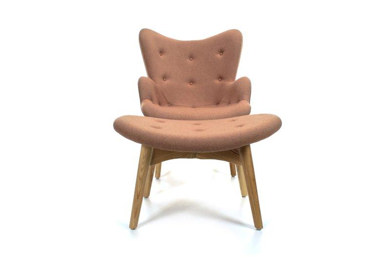 Fotel Z Podnóżkiem LEOKES Wełna