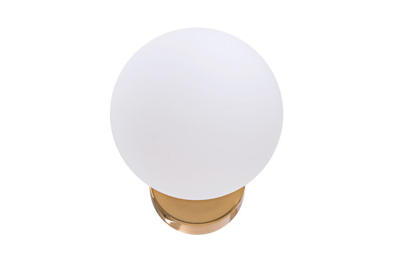 Kinkiet Lampa Ścienna Z Białym Kloszem - MONTE