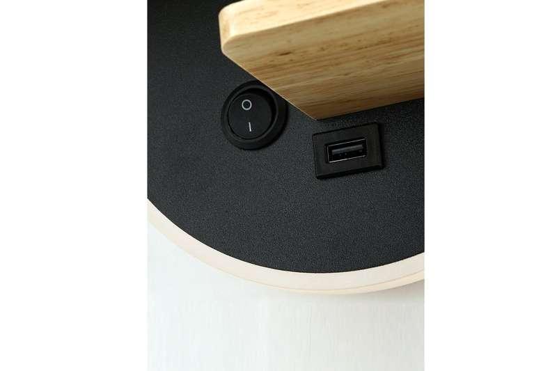 Kinkiet Lampa Ścienna Z USB HARPER MODEL A