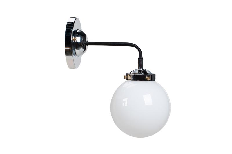 Lampa MORED 1 Chromowana Mleczne Szkło