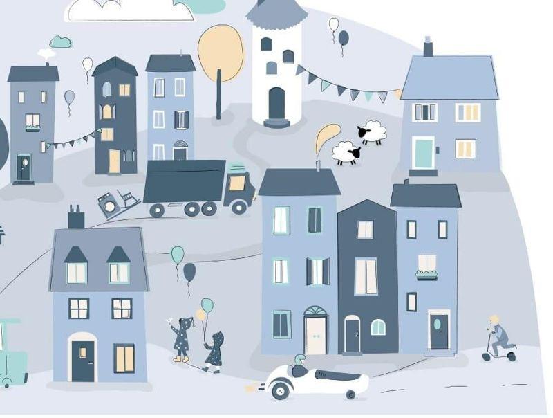 naklejka | miasteczko niebieskie Pastelowe Love